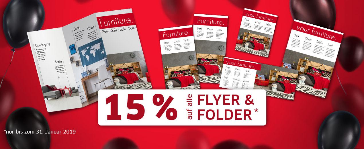 Sparen Sie 15 % auf Flyer & Folder!